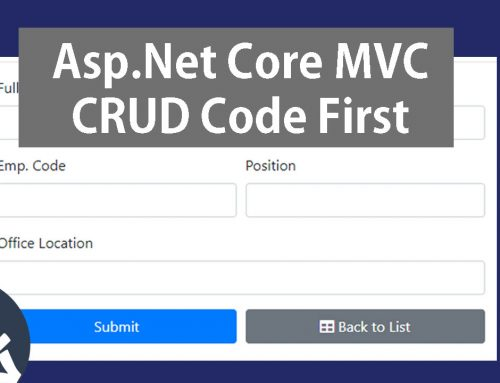 Asp.Net Core MVC CRUD with EF Core