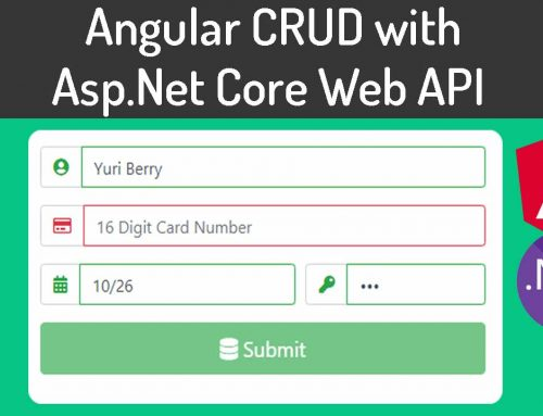 Angular 9 CRUD with ASP.NET Core Web API