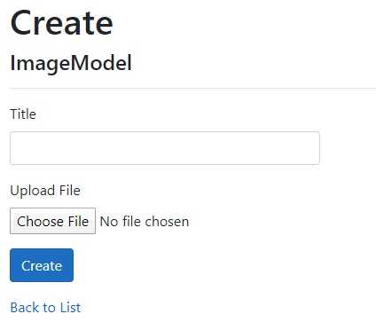 image showing MVC form for image upload