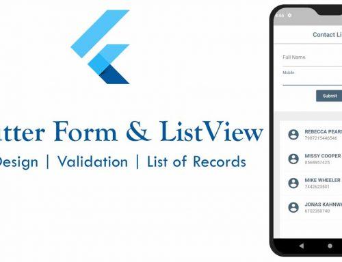 Design Flutter Form and ListView Widget for CRUD Operation