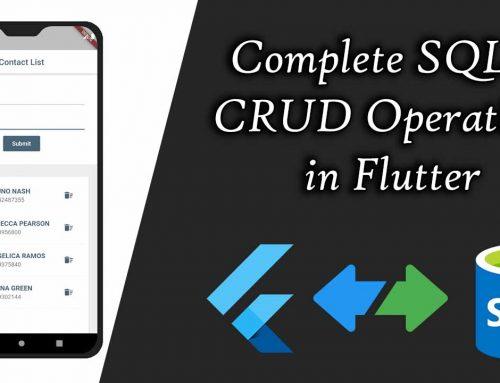 Complete SQLite CRUD Operations in Flutter
