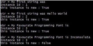Output - string vs stringbuilder in c#