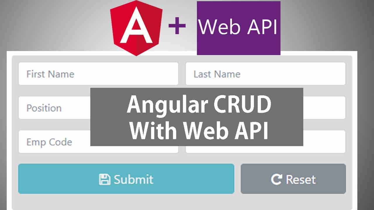 Angular 5 with Web API – CRUD Operations