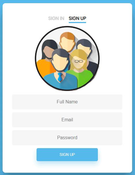 shows updated registration form