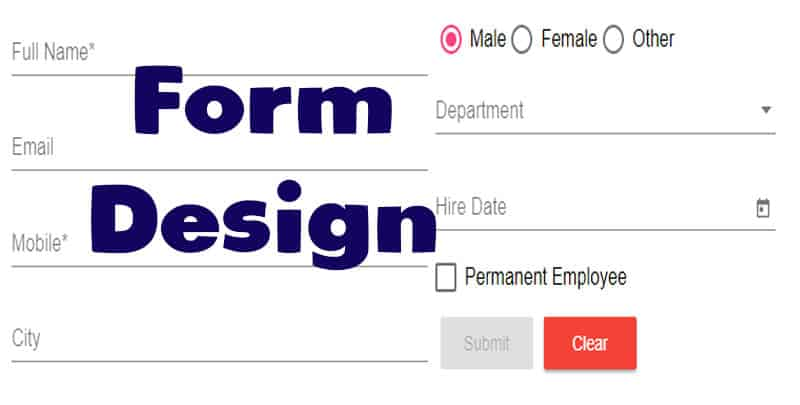 Build Angular Material App. – CRUD Form Design