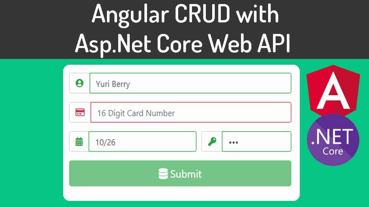 Angular CRUD with ASP.NET Core Web API
