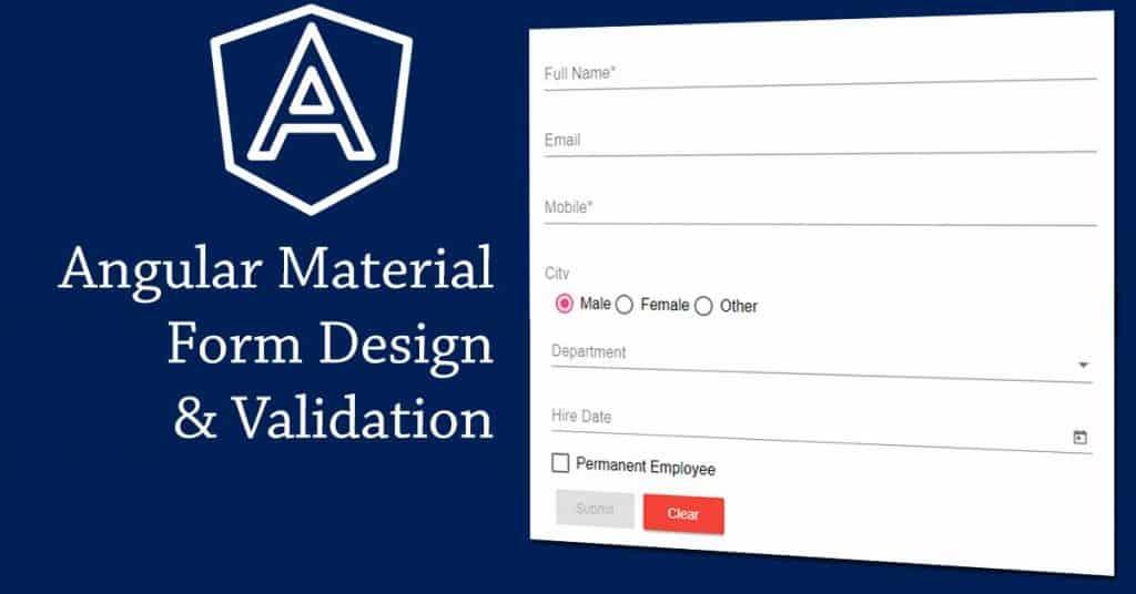 angular material form design and validation
