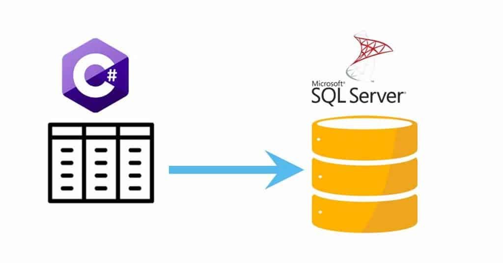 How to save c# table into sql server table
