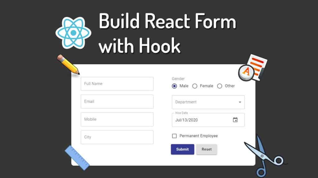 How to build react form with react hook